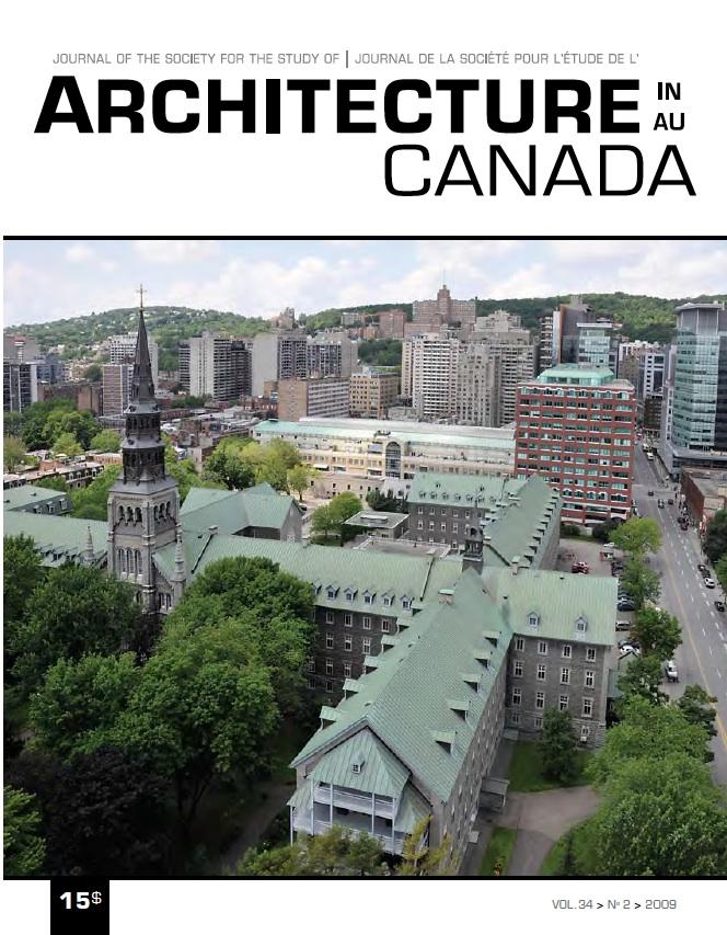 La maison-mère des Soeurs grises de Montréal. Architecture au Canada - Vol. 34, no 2