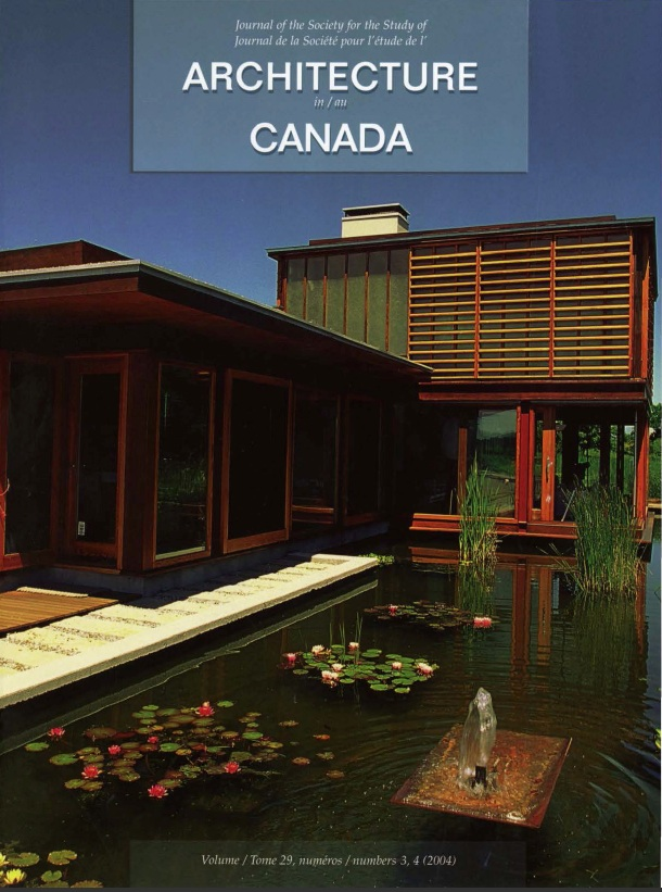 Architecture au Canada vol. 29 no. 3-4