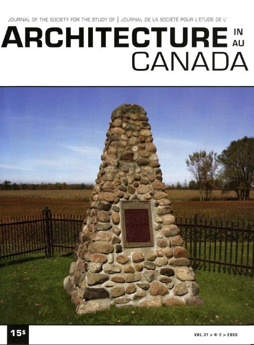 Architecture au Canada, vol 31, numéro 2