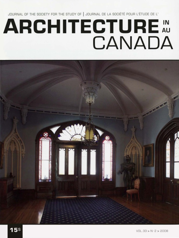 Architecture au Canada - Vol. 33, no 2