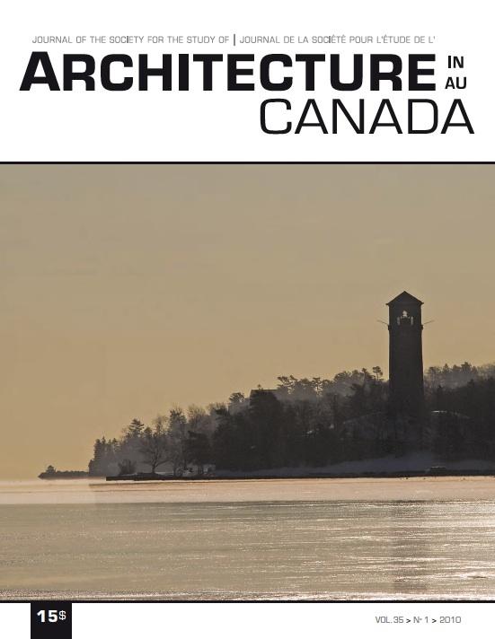 Architecture Canada, vol. 35, nº 1