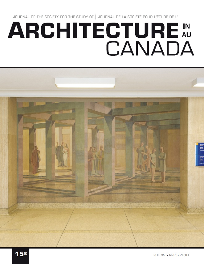 Patrimony, the Concept, the Object, the Memory, and the Palimpsest. Architecture Canada, vol. 35, nº 2