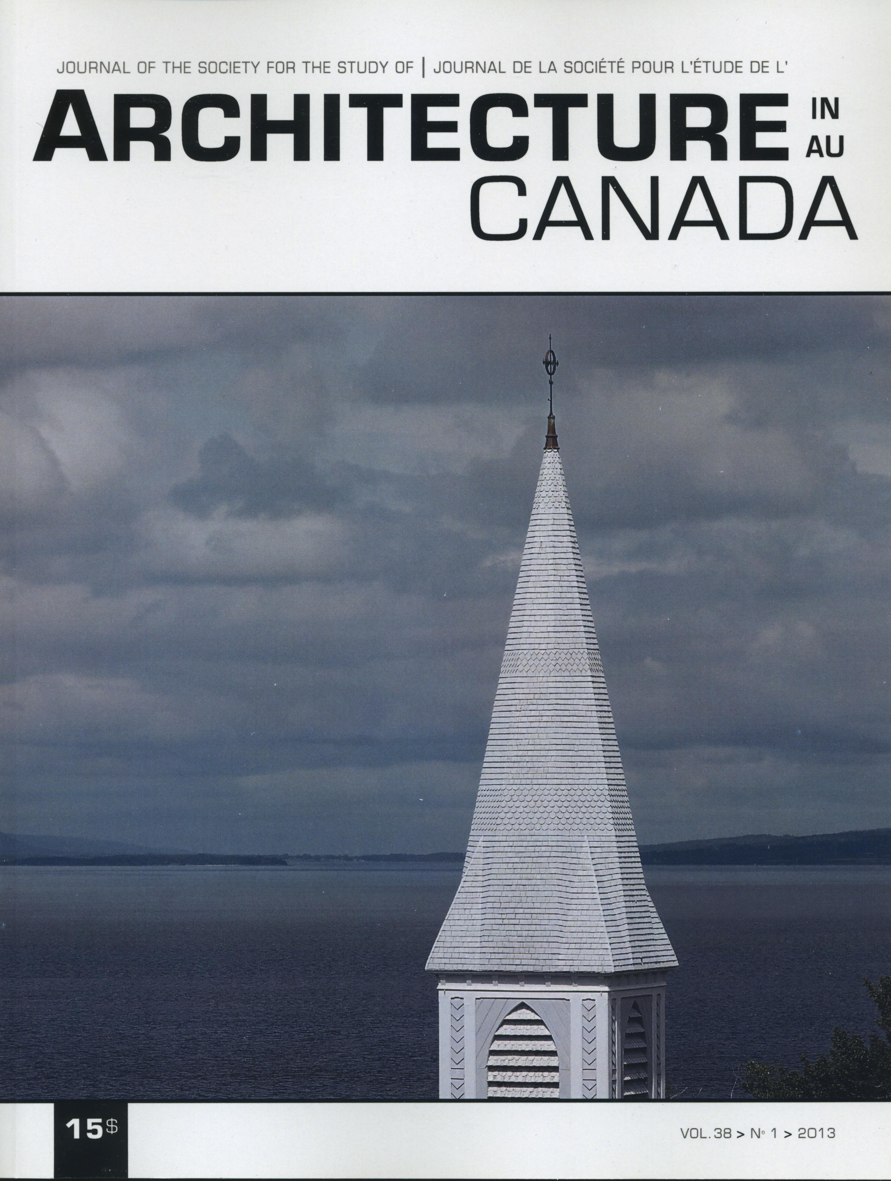 Architecture Canada, vol. 38, nº 1