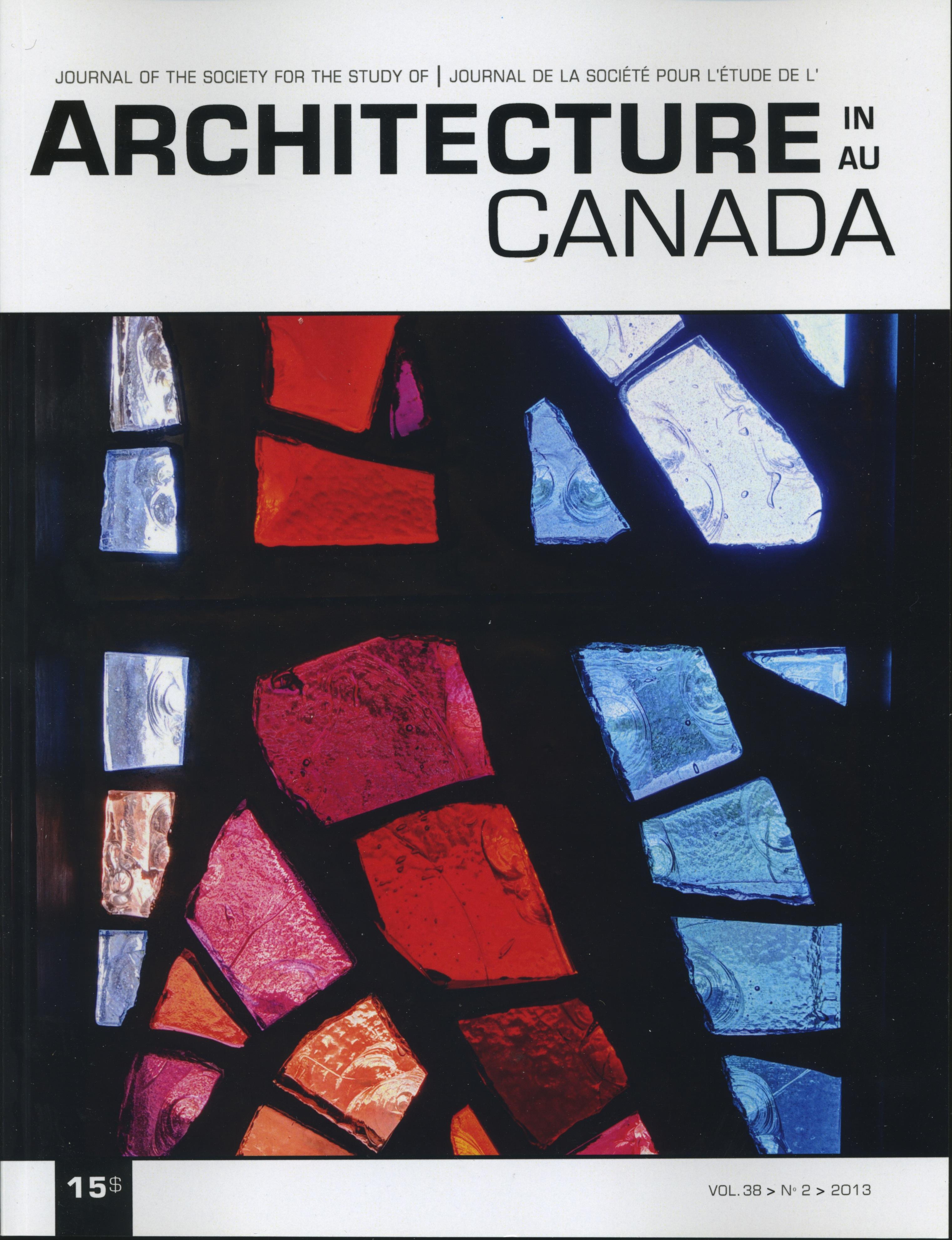 Architecture Canada, vol. 38, nº 2