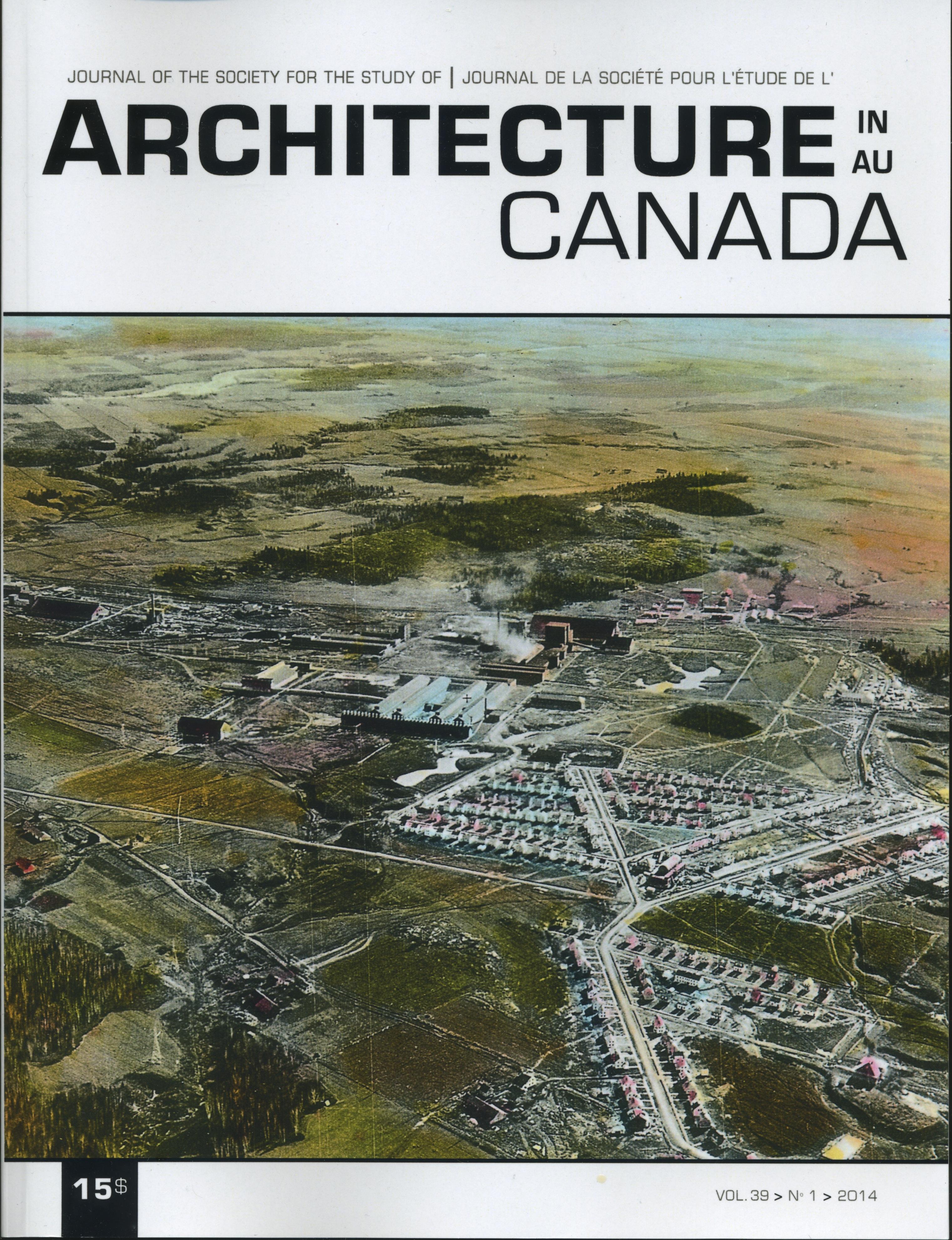 Architecture Canada, vol. 39, nº 1