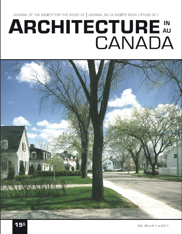 Non-fiction utopia. Arvida, Cité Industrielle made real. Architecture Canada, vol. 36, nº 1