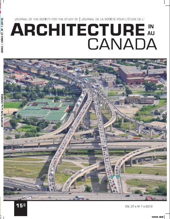 Architecture Canada, vol. 37, nº 1