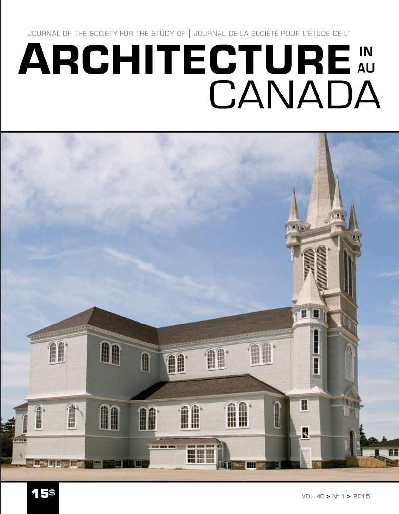 Architecture Canada, vol. 40, nº1
